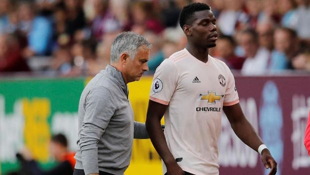 Hubungan Pogba dan Jose Mourinho mengalami pasang surut.