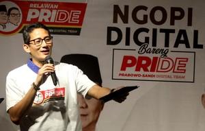Ini Pesan Sandi saat Ngopi Digital Bareng Pride