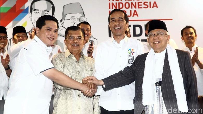Senyum Semringah Erick Thohir Saat Jadi Ketua Timses Jokowi