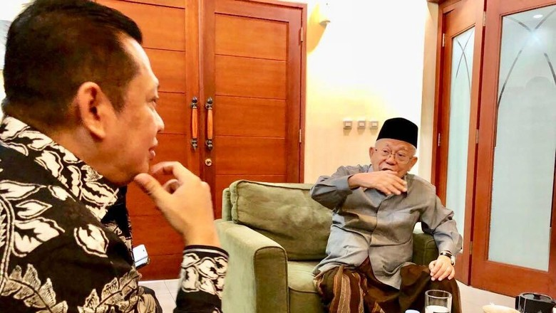 Bamsoet: Maruf Dukung Pertemuan Rutin Tim Jokowi-Prabowo