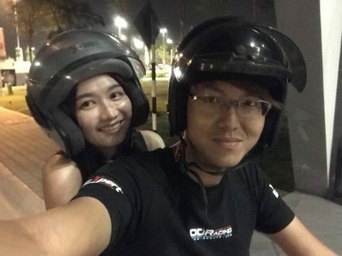 Edwin Kong bersama kekasihnya