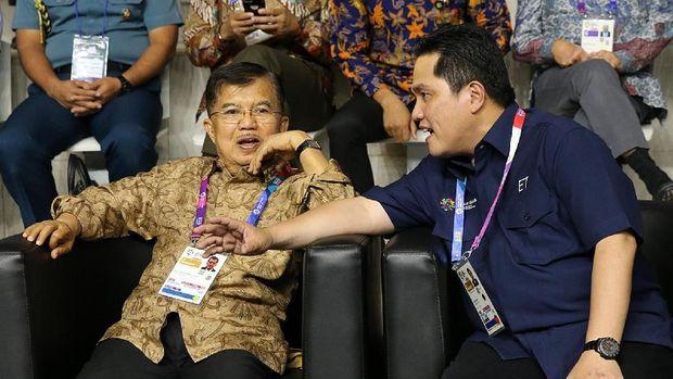 Jusuf Kalla dan Erick Thohir menyatakan kesiapan Indonesia menjadi tuan rumah Olimpiade 2032.