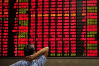 Ilustrasi Bursa Saham China