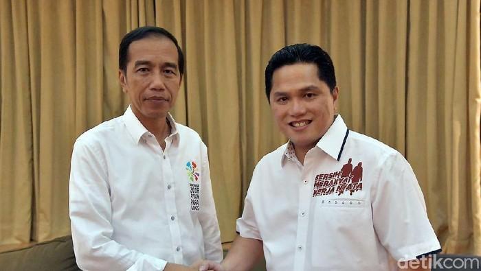 Jokowi dan Erick Thohir