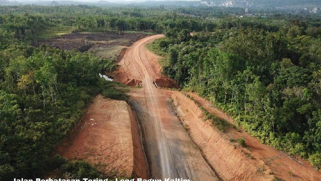 Jalan Perbatasan di Kalimantan Tembus 883 Km
