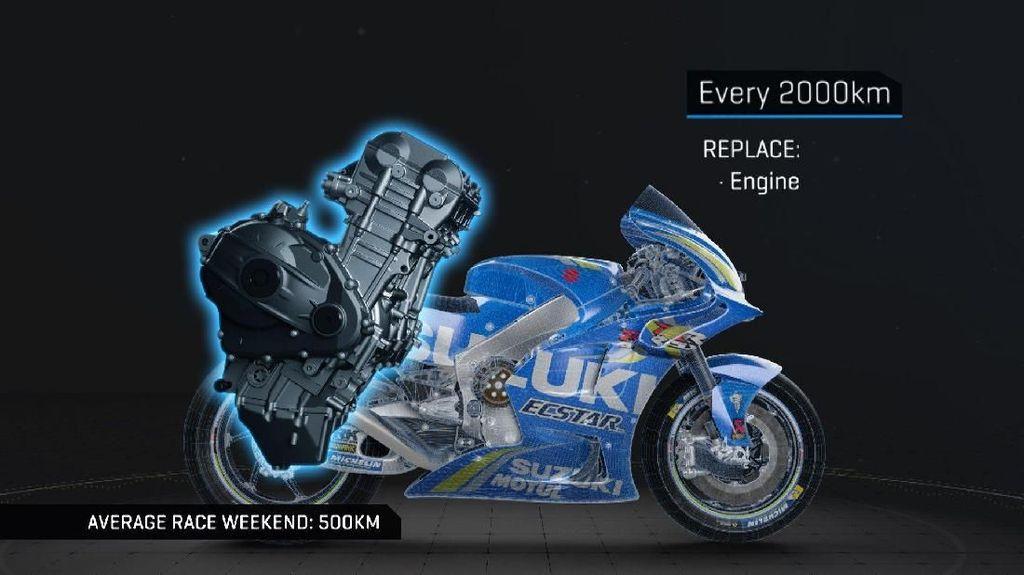 Periode Penggantian Komponen Motor MotoGP, 2.000 KM Ganti Mesin!