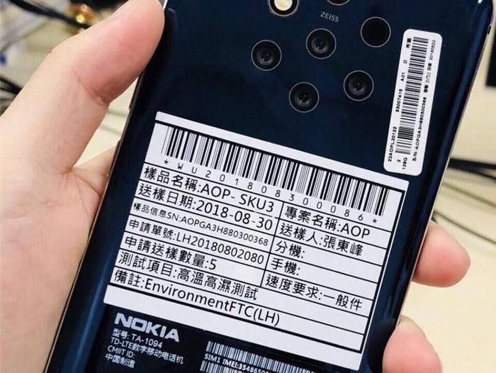 Bocoran Nokia 9. Foto: ITHome