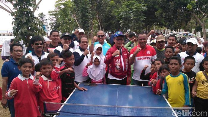 Perayaan Haornas ke-35 di Kepulauan Tidore (Amalia Dwi Septi/detikSport)