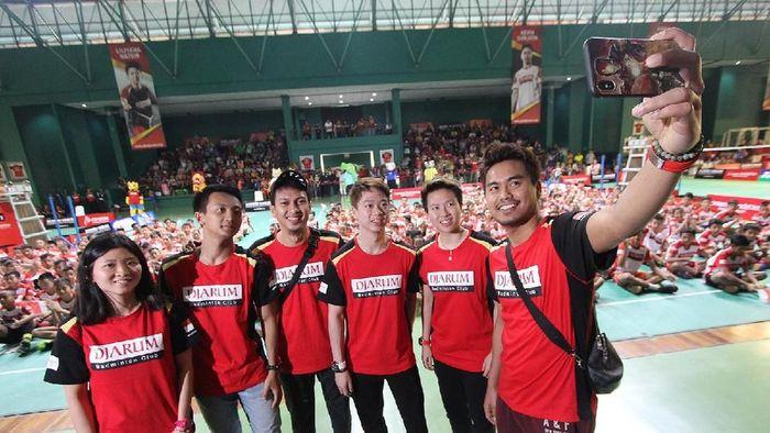 Bintang-bintang bulutangkis Indonesia di final Audisi Djarum. (Foto: dok. PB DJARUM)
