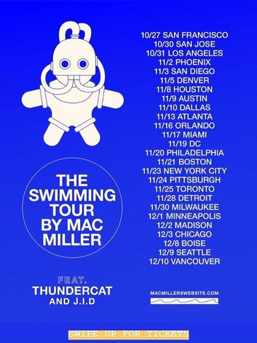 Meninggal Dunia, Ini Jadwal Tur yang Ditinggalkan Mac Miller