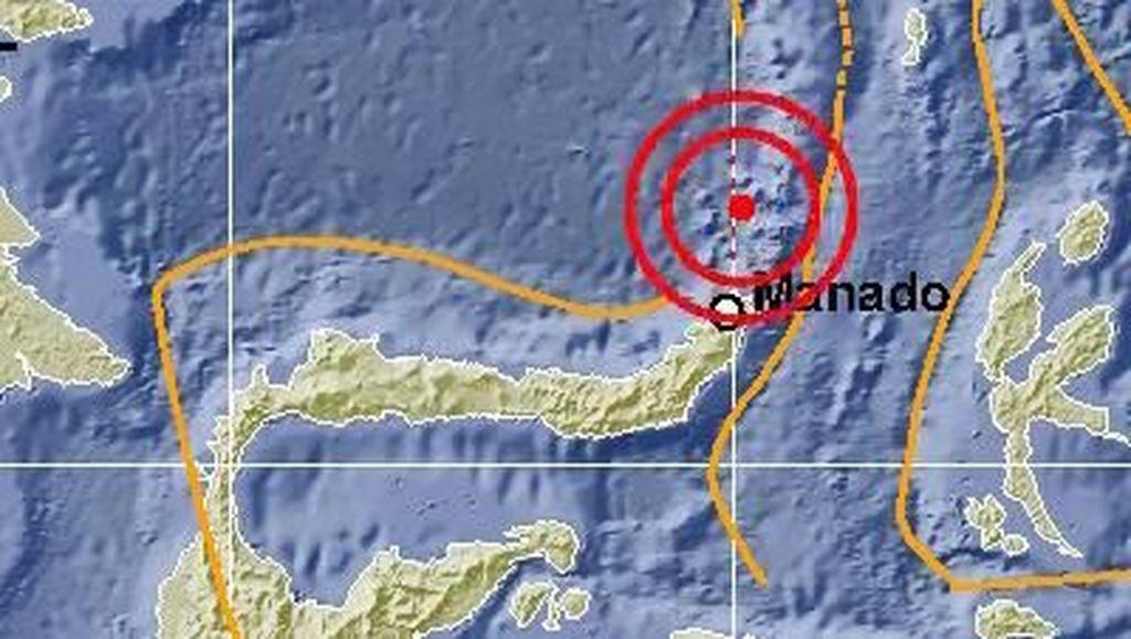 Gempa 5,9 SR Guncang Sulut, Tak Berpotensi Tsunami