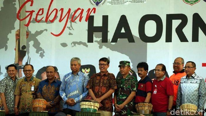 Kemenpora gelar gebyar Hari Olahraga Nasional di Ternate. (Foto: Rengga Sancaya/detikSport)