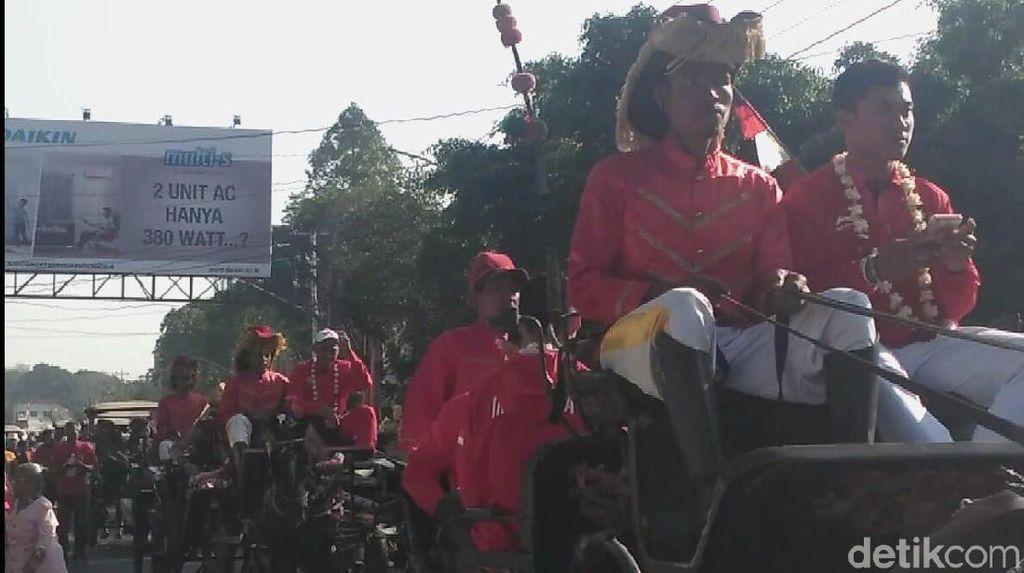 Rayakan Haornas, Atlet Jawa Tengah di Asian Games Dikirab Keliling Solo