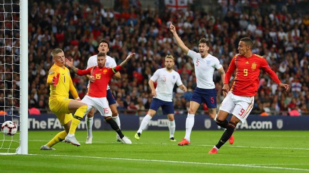 Hasil UEFA Nations League: Sempat Tertinggal, Spanyol Kalahkan Inggris 2-1