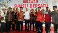 Gubernur Sumsel Terpilih Deklarasi Dukungan ke Jokowi-Ma'ruf