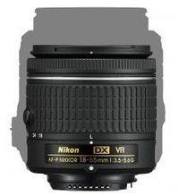 Lensa AF-P 18-55mm desainnya terlihat lebih kecil daripada lensa 18-55mm sebelumnya.