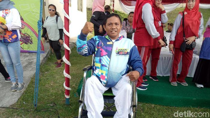atlet tenis meja disabilitas Risal Assor (Amalia Dwi Septi/detikSport)
