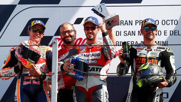 Marc Marquez masih memimpin klasemen MotoGP 2018, disusul Andrea Dovizioso di posisi kedua (Foto: Max Rossi/Reuters)