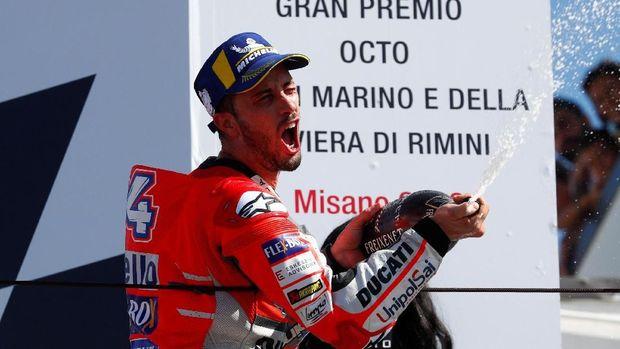 Andrea Dovizioso menjadi juara MotoGP Valencia.