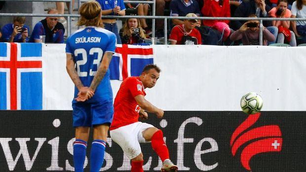 Swiss menghancurkan Islandia 6-0 di laga UEFA Nations League 2018. (