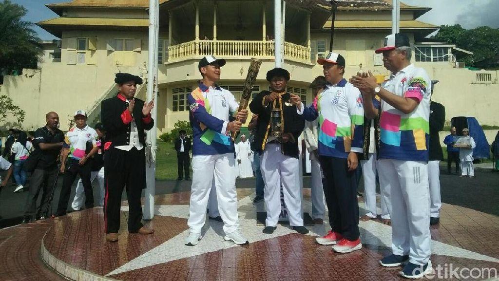 Api Obor Asian Para Games 2018 Menyala di Ternate
