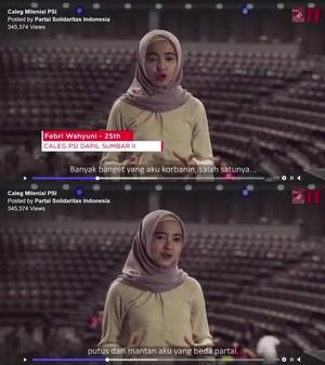Viral, Bacaleg PSI Cerita Pengorbanan Putus Gara-gara Beda Parpol