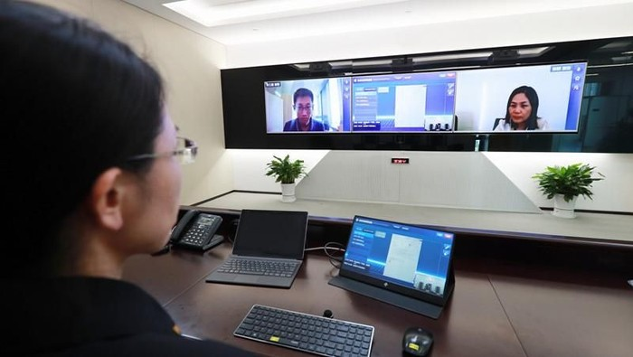 Beijing Internet Court. Foto: Istimewa/China Daily