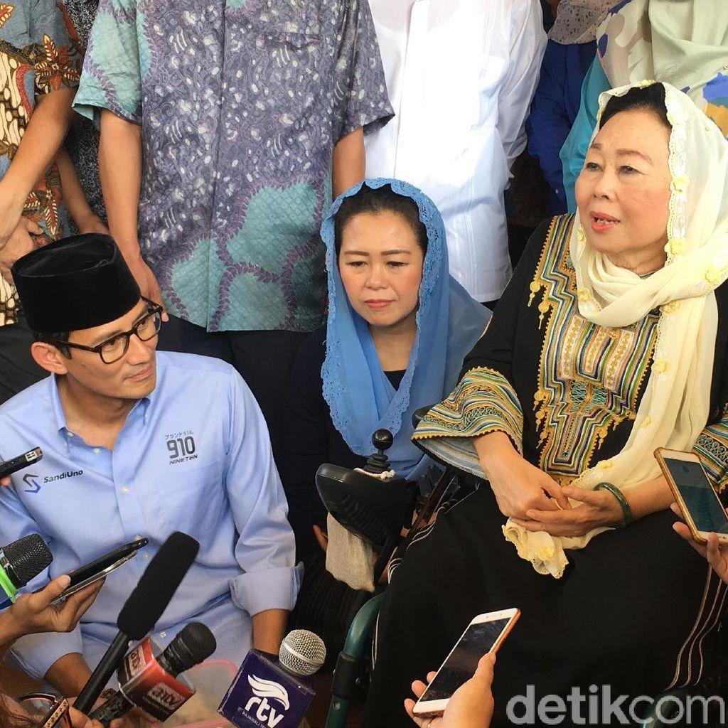Sandiaga Sebut Yenny Wahid Butuh Waktu Putuskan Soal Timses Capres