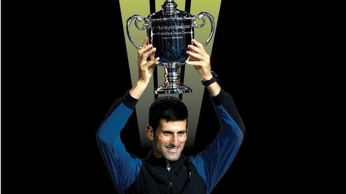 Novak Djokovic juara Amerika Serikat Terbuka 2018 (Foto: desain grafis)
