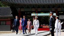 Foto: Istana yang Jadi Saksi Penyambutan Jokowi di Korea