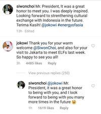 Jokowi dan Siwon 'Super Junior' Bertukar Pujian di Medsos