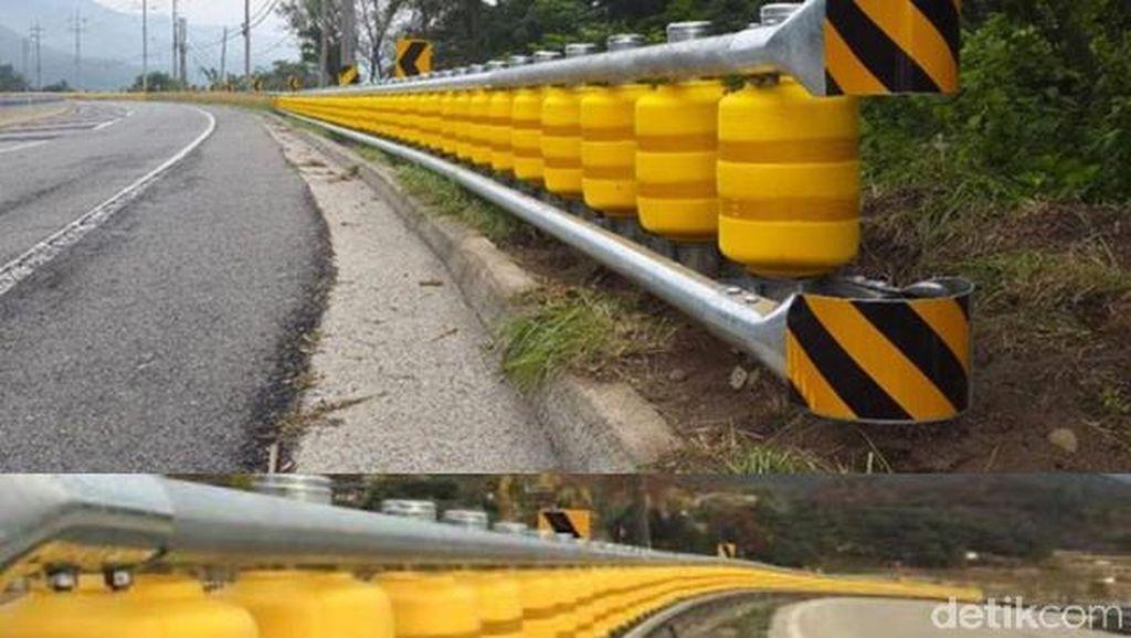 Roller Barrier Sepanjang 60 Meter Telah Terpasang Cikidang Sukabumi
