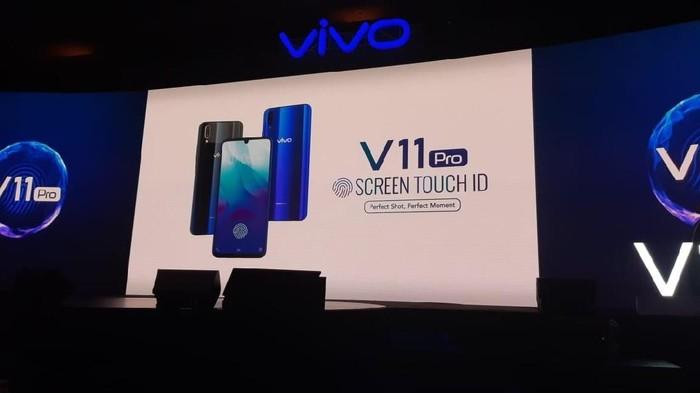 Vivo V11 Pro sudah resmi diluncurkan, ini harganya (Foto: detikINET/Virgina Maulita Putri)