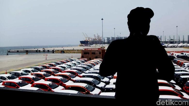 Ilustrasi ekspor mobil Foto: Pradita Utama