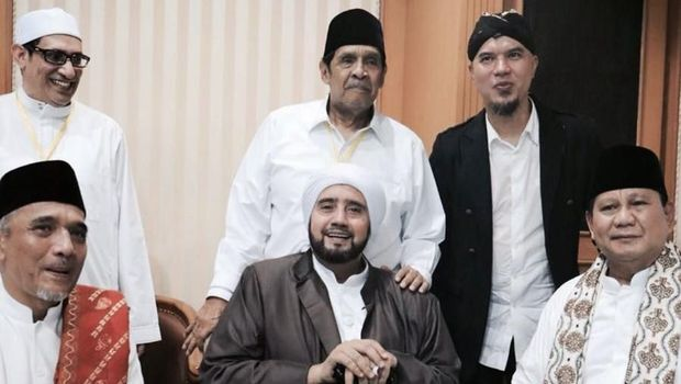 Heboh Gestur Habib Syech di Pertemuan dengan Prabowo