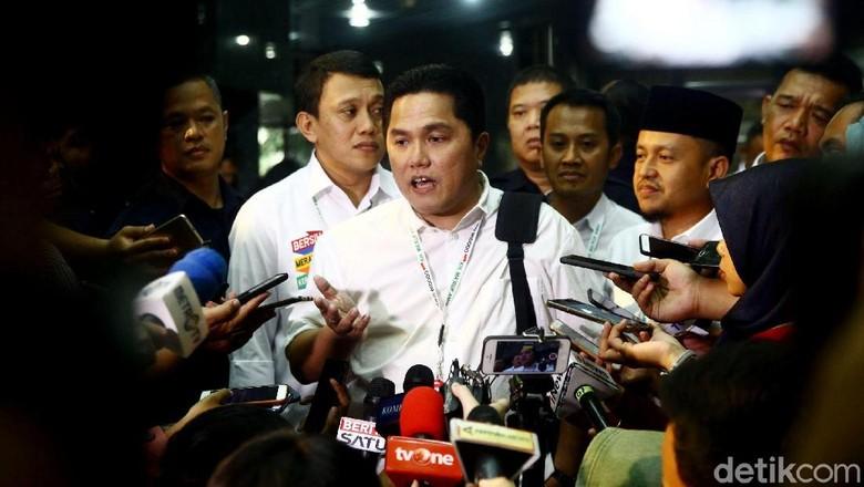 Erick Thohir Pimpin Rapat Perdana Timses Jokowi, Ini yang Dibahas