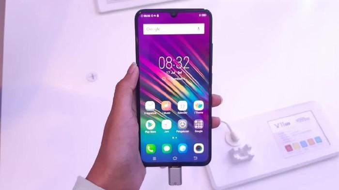 VIvo V11 Pro punya teknologi screen touch ID yang bisa menjadi tren baru smartphone (Foto: Virgina Maulita Putri/detikINET)