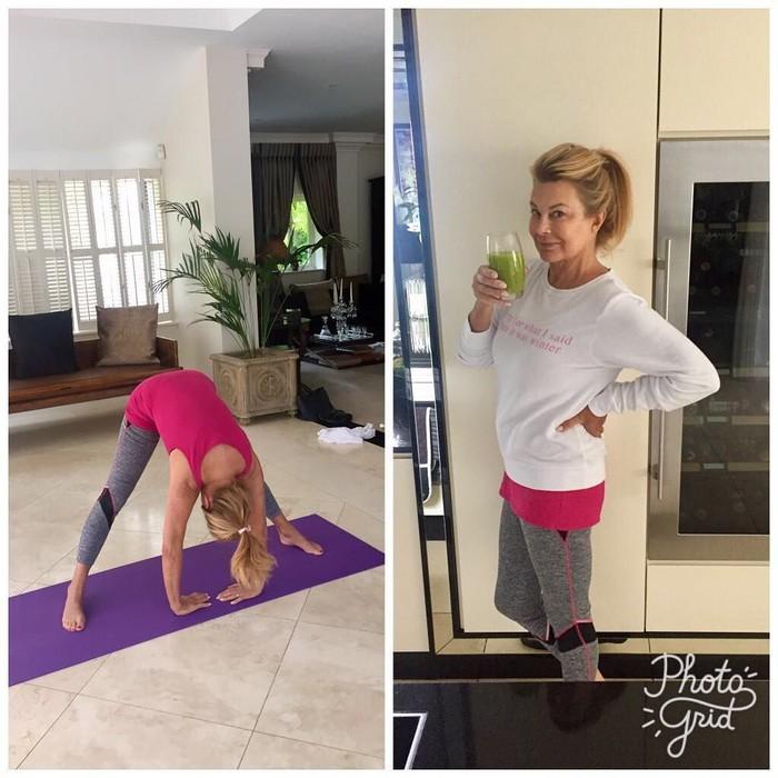 Yoga menjadi favorit wanita berusia 64 tahun ini. Jilly Johnson sempat terkenal sebagai model lingerie, dan selalu berhati-hati memilih kosmetik yang ia pakai. Bahkan, ia masih pakai sampo bayi! (Instagram @jillyjohnson100)
