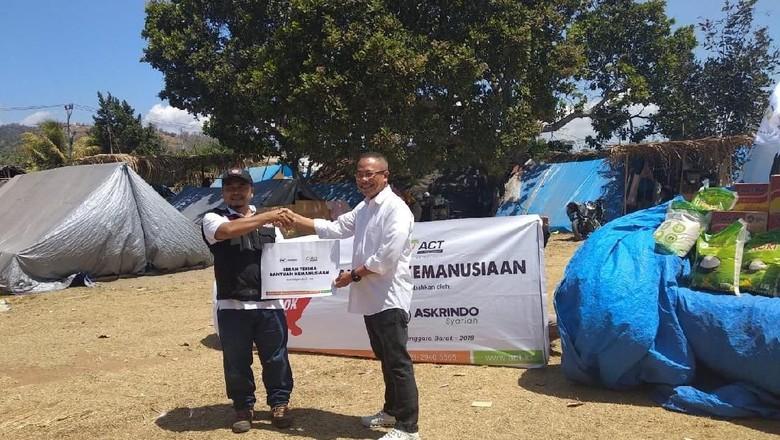 Askrindo Syariah & ACT Salurkan Bantuan ke Lombok Senilai Rp 100 Juta