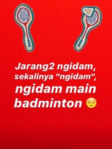 Raisa Ngidam Main Badminton, Gara-gara Jonatan Christie?