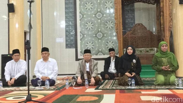 Kunjungi PP Amanatul Ummah, Maruf Amin: Saya Mohon Dukungan