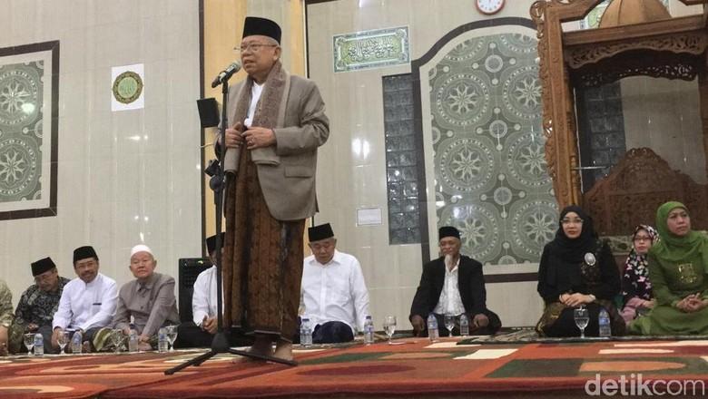 Maruf Amin Klaim Didukung Para Kiai di Jatim