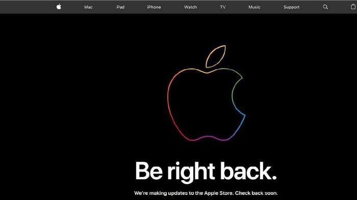 Jelang kelahiran iPhone baru, situs Apple Down malah tampak down. Foto: Screenshot Situs Apple Store