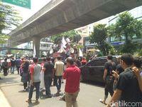 Kemacetan lalin dari Blok M ke arah Senayan