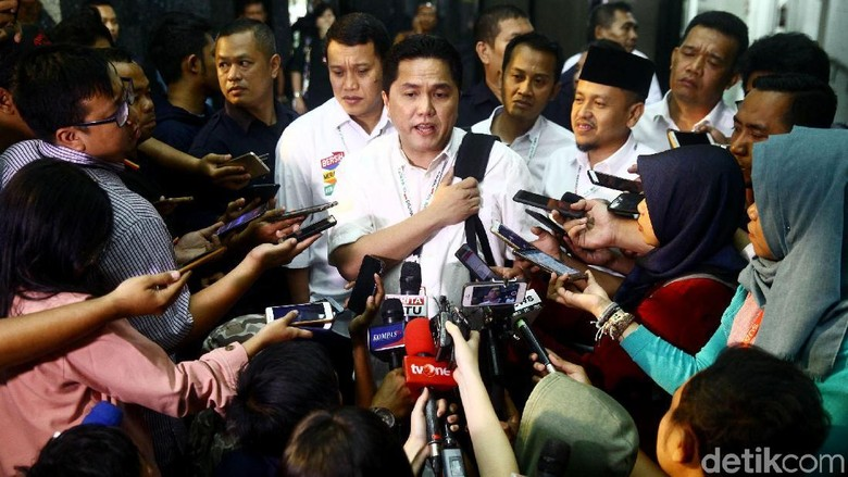 Erick Thohir Pimpin Rapat Perdana Timses Jokowi