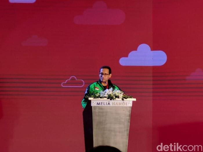 Nadiem Makarim menerangkan alasan Go-Jek ekspansi ke Vietnam. Foto: detikINET/Adi Fida Rahman