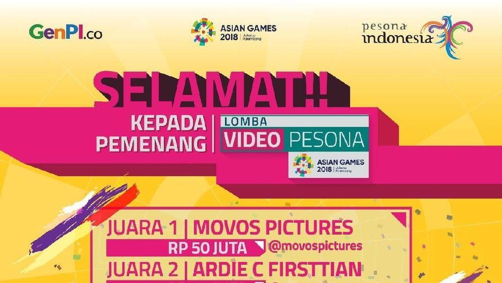Lomba Video Asian Games Usai, Menpar Apresiasi Antusias Netizen