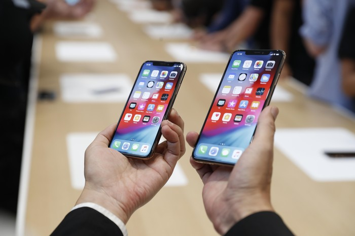 iPhone XS dan XS Max. Foto: Stephen Lam/Reuters