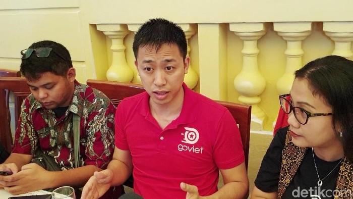 CEO Go-Viet Nguyen Vu Duc menjelasan peran Go-Jek (Foto: Adi Fida Rahman/detikInet)