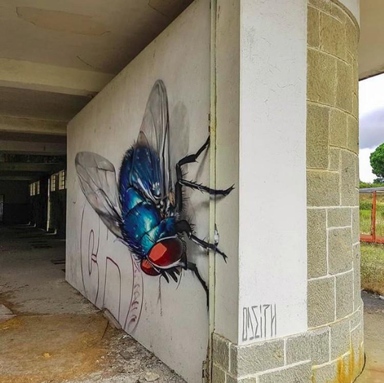 Keren Banget Seni Grafiti 3d Ini Seperti Keluar Dari Tembok